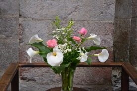 The flowers in the abbey at St Savin
