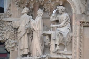 Up close detail on La Sagrada Familia
