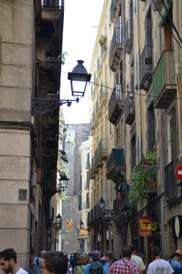 The narrow alleys of the Gothic quarter