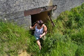 Existing 1 of the many bunkers at Pont du Hoc