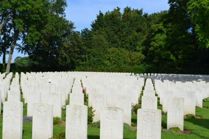 The beautifully kept war cemetries