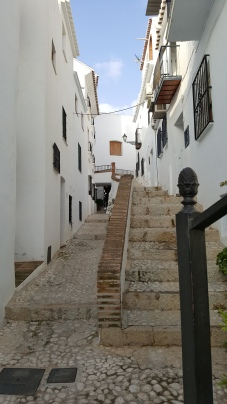 The narrow whitewashed streets of Frigiliana