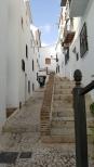 The narrow whitewashed streets of Frigiliana