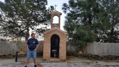 Shrine on the mountain road from Frigiliana back towards Malaga