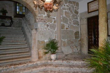 Restaurant entrance in Ciudad Rodrigo (sadly closed while we were there)