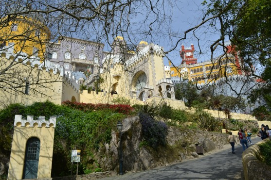 Up close to the Pena Palace, Sintra