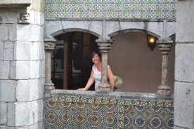 In the old cloisters at Pena Palace
