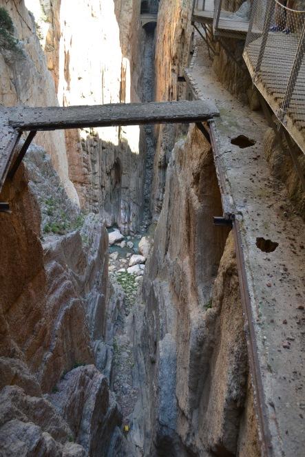 Broken sections of old walkway