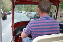 Calv driving a tuk-tuk in Sintra