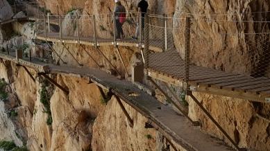 The original path below the boardwalk