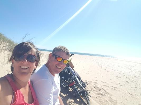 On the beach at Alvor