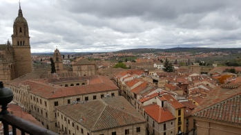 View across the rooftops in Salamanca
