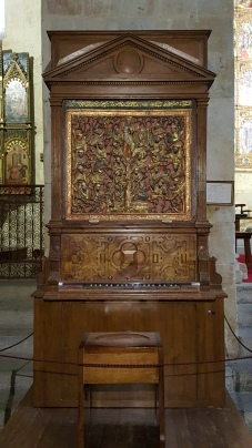Organ in the old Gothic Cathedral, Salamanca