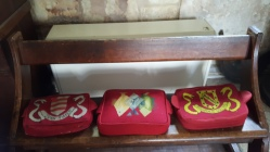 The individual cushions in St Thomas a Becket church, Brightling