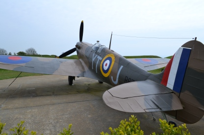 Replica plane at the Battle of Britain Memorial
