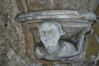 Figure on a column of Salutation Inn