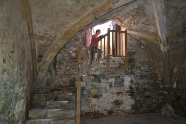 Steps down into the Salutation Inn cellar