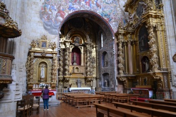 The church in Convento de St Estaban, Salamanca