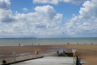 Windsurfing and kiting at Whitstable