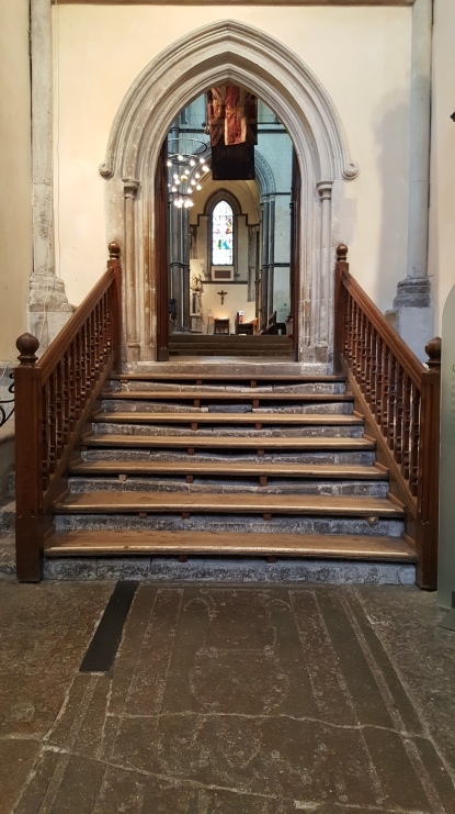 The pilgrims steps (beneath the wooden additions - see how they're worn away?)