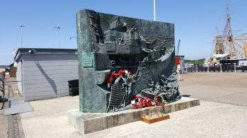Memorial by HMS Cavalier