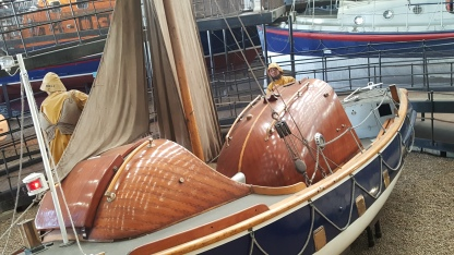 Some of the lifeboats on show