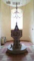 The Font and Bell Pulls, St Peters Theberton