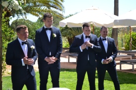 The groom, Sam and his attendants
