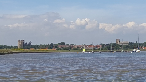 View back to Orford from the kayak