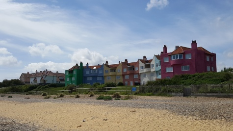 Houses overlooking Thorpeness beach