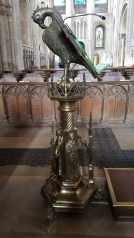 Pelican lectern in Norwich Cathedral