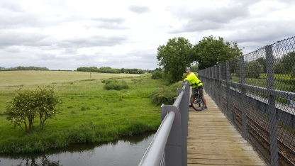 On our bike ride along the steam train line from Wroxham to Aylsham - 9 miles each way :)