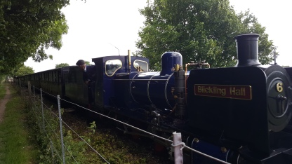 The Steam train from Wroxham to Aylsham (we kept up with it!)