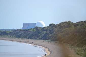 A view up the beach from Dunwich towards Sizewell