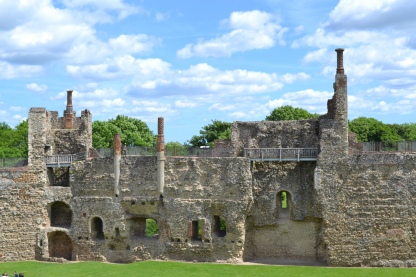 Where the chapel and great hall stood in Framlingham Castle