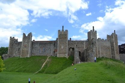 Framlingham Castle from outside the walls