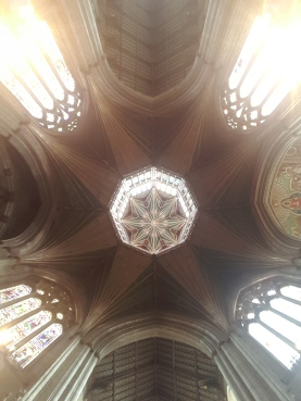 Looking up into the Lantern Tower, Ely Cathedral