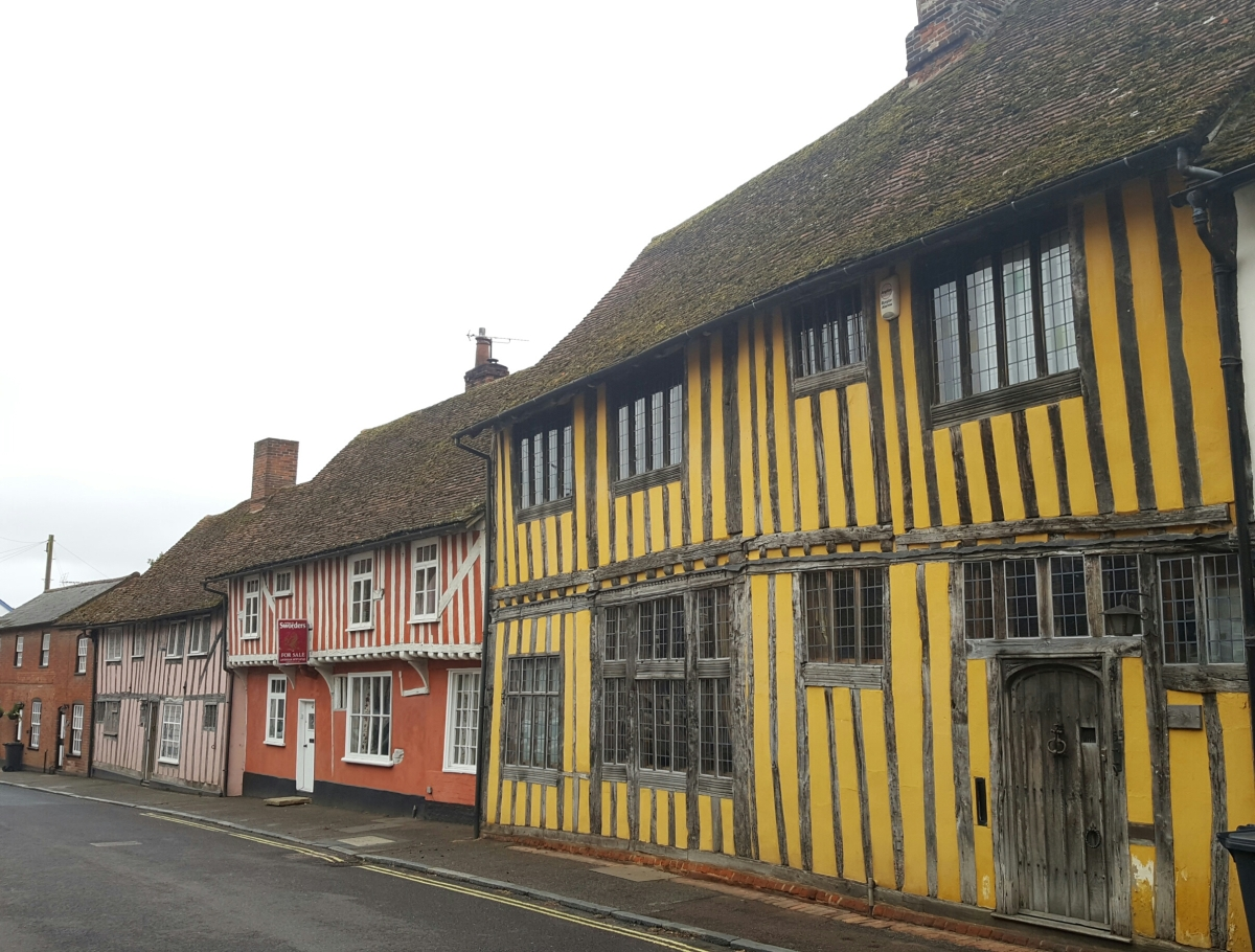 Charming Lavenham and a wonderful surprise in delightful Bury St Edmunds
