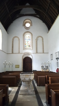 Inside the church at Castle Rising