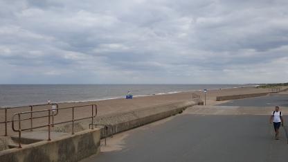 Sutton on Sea promenade and beach