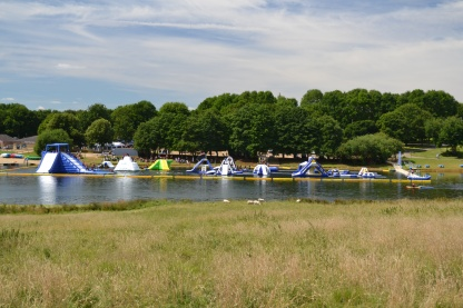 Obstacles on the water at Rutland Water