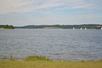 View of yachts on Rutland Water