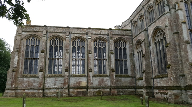 View of the outside of the chancel at Tattershall Church