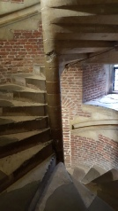 The spiral staircase with built in banister - Tattershall Castle