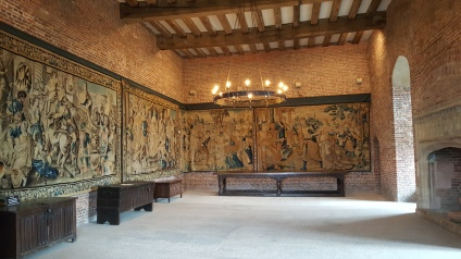 The main Salon on the top floor of Tattershall Castle