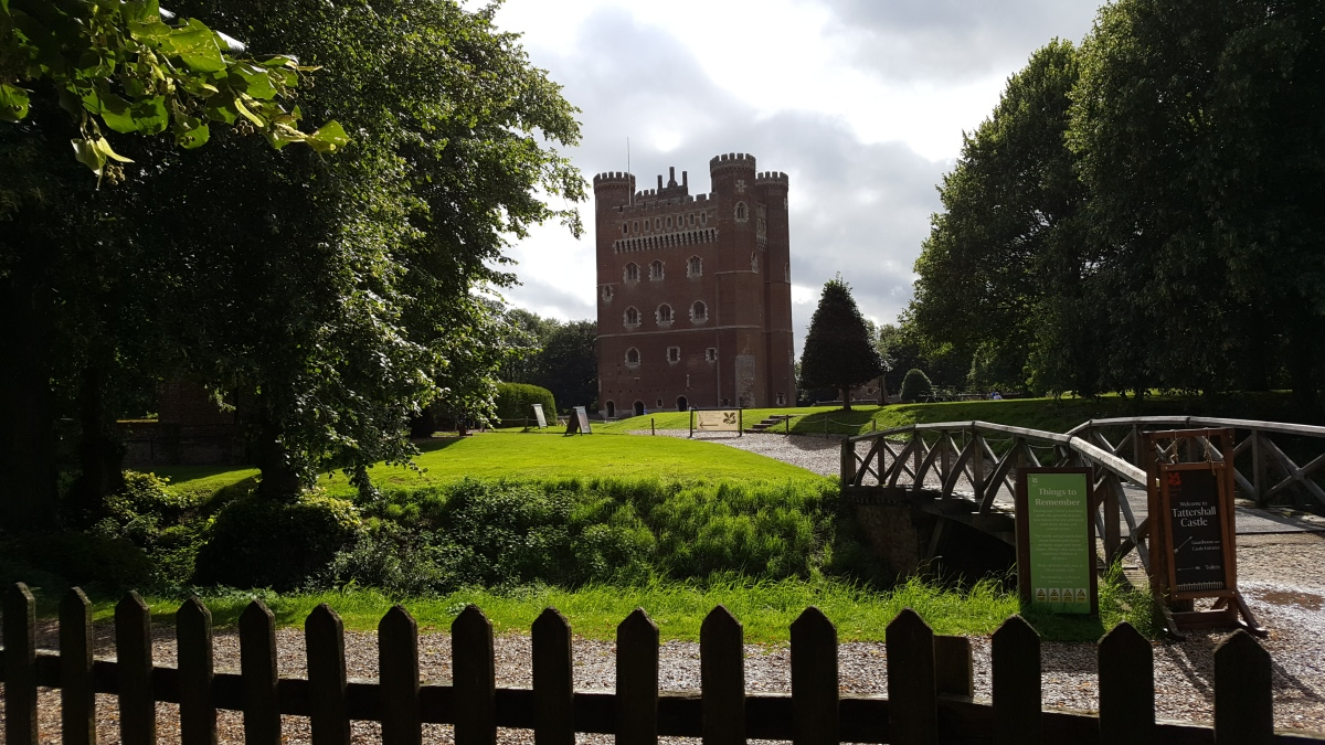 Tattershall Castle,  with an impromptu air display. Then enjoying a film in the Kinema in the Woods