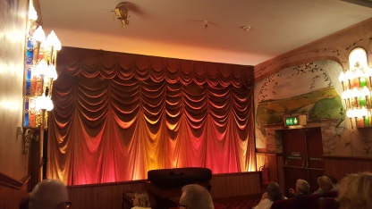 The curtain at the Kinema in the Woods
