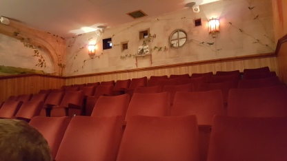 Looking back from our seat in the Kinema in the Woods