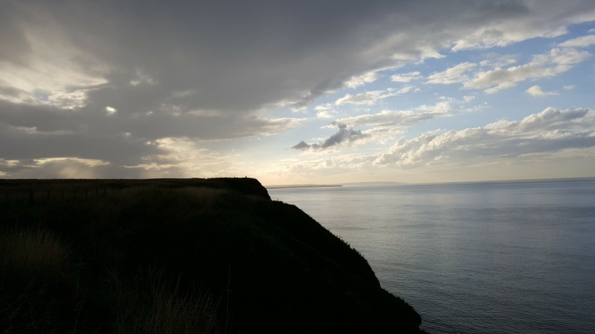An evening view over the cliffs