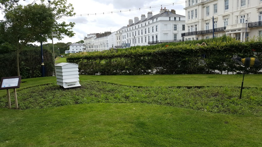 Bee sculpture. Crescent Gardens, Filey